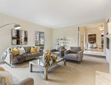 200 Eucalyptus Ave. Hillsborough, CA living room